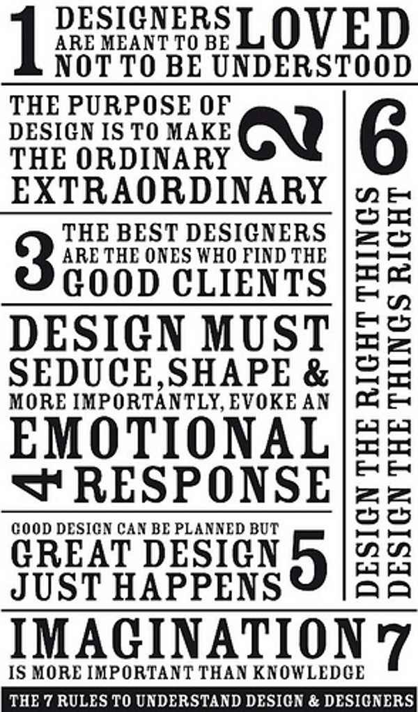 Simple 7 rules to understand design &amp; designers
