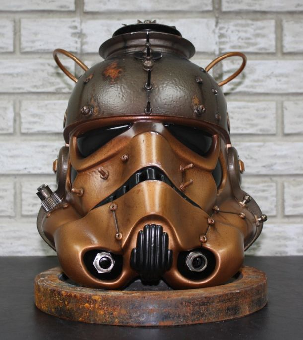 Steamtrooper Helmet - Star Wars inspired Steampunk art