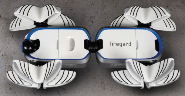Firegard  A futuristic autonomous firefighting robot 