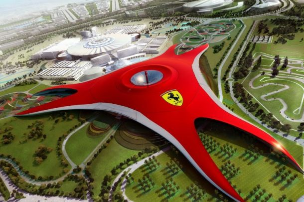 Ferrari World theme park : Breath taking adventurous roller coaster ride at 200 km/h 