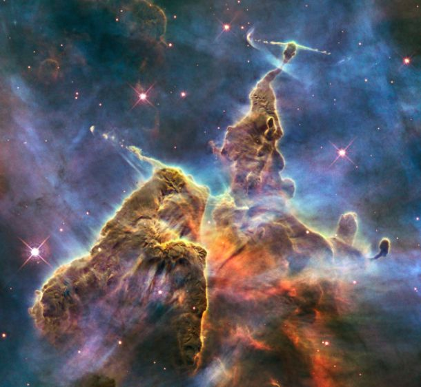 Mesmerizing cosmic pinnacle captured by NASA's Hubble