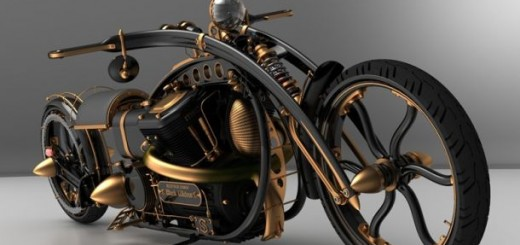 Steampunk Chopper Extreme Custom Motorcycle6