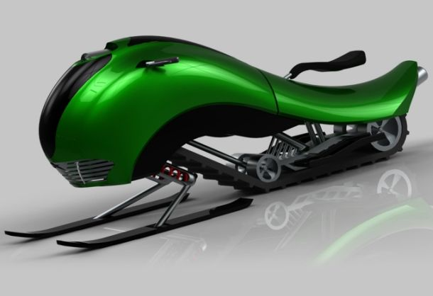 Hima snowmobile concept for those who love speed