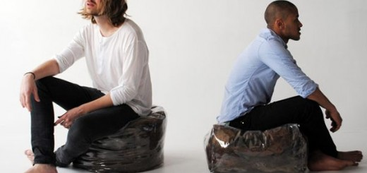 Recycled hair poufs