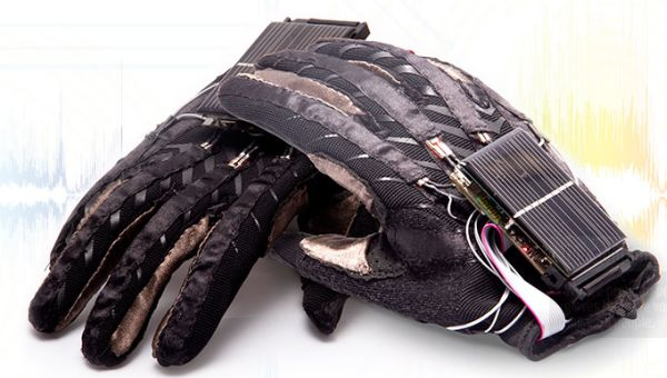 Enable Talk: Pair of sensory gloves that gives voice to speech impaired