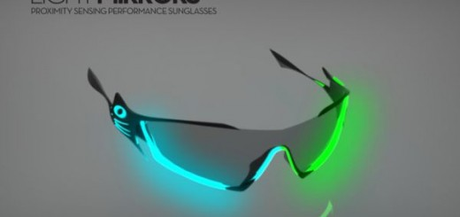 Light Mirrors Proximity Sensing Sunglasses by Luc Fusaro