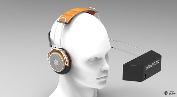 Designer conceptualizes a 'home theater' headset with iPhone