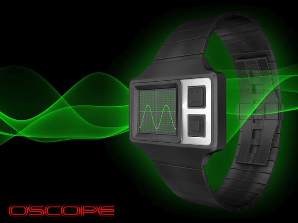 Waveform timing in the new Oscope watch by Tokyoflash