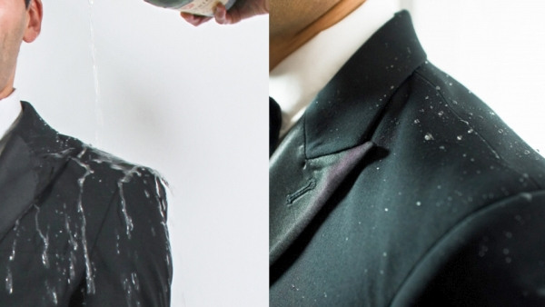 Proof NY liquid repellent Tuxedo for the ultimate gentleman 