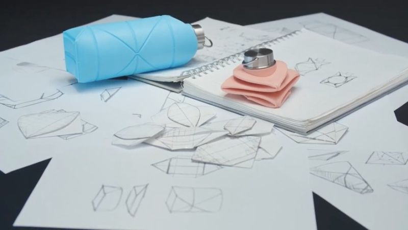 DiFold Reusable Origami Bottle Folds to Slip in Your Pocket-2